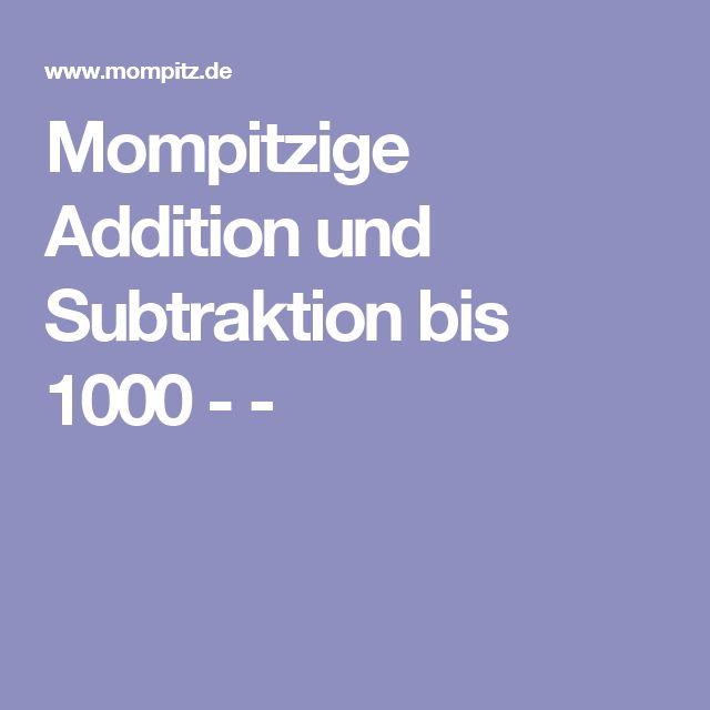 Mompitzige Addition und Subtraktion bis 1000 -  -
