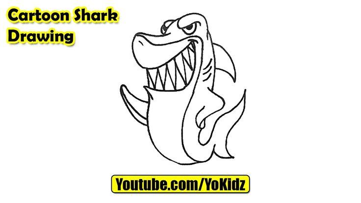 How to draw a Cartoon Shark Easy  Cartoon Shark Drawing from YoKidz  #YoKidz #Drawing #PencilDrawing #Generaldrawing #Like4like #Likeforlike #Share4share #Shareforshare #Draw #DrawCartoonShark #Blackandwhite #CartoonShark #Shark #Cartoon