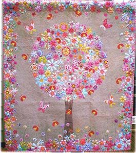 "Meg's Garden Quilt Pattern -- A ""Don't Look Now"" Quilt Pattern by Australian designer Kellie Wulfsohn"
