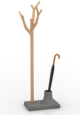 Perchero con paragüero   -   Coat & umbrella stand