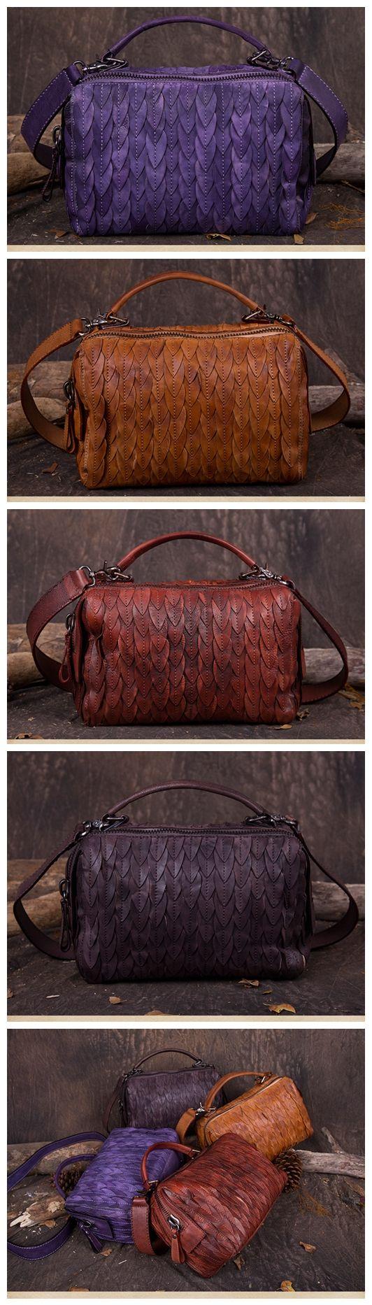 Women's Fashion Leather Handbag Messenger Bag Shoulder Bag Small Satchel in Brown DD101 Overview: Design: Women Fashion Handbag In Stock: 3-5 days For Making Leather: Vegetable Tanned Leather Measures