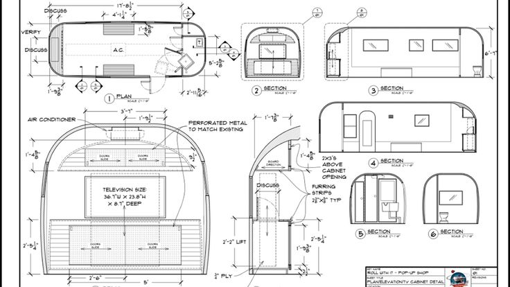 airstream blueprints - Google Search | Airstreams