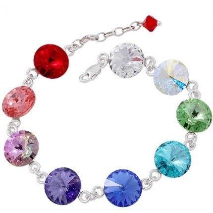 Bratara de lux cu cristale colorate http://www.bijuteriifrumoase.ro/cumpara/bratara-rivoli-r-10-bracelet-3234