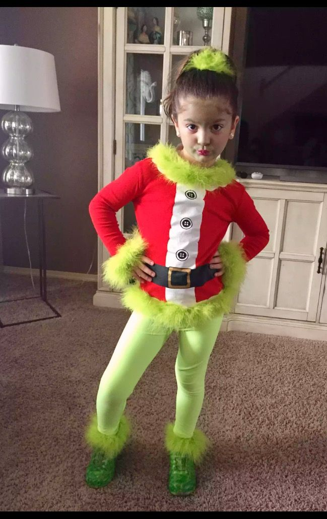The grinch costume Kids grinch costume, Diy girls