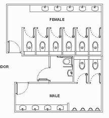 Resultado de imagem para public toilet layout dimensions