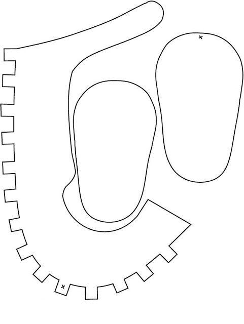 moldes de sapatinhos de eva 6