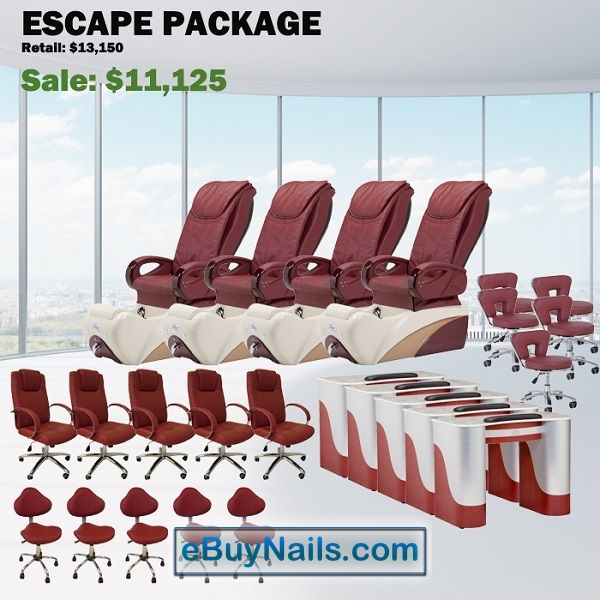 Escape Spa Pedicure Chair Package – Free shipping - $10800 ,  https://www.ebuynails.com/shop/escape-spa-pedicure-chair-package-free-shipping/ #pedicurespa#pedicurechair#pedispa#pedichair#spachair#ghespa#chairspa#spapedicurechair#chairpedicure#massagespa#massagepedicure#ghematxa#ghelamchan#bonlamchan#ghenail#nail#manicure#pedicure#spasalon#nailsalon#spanail#nailspa#massagechair