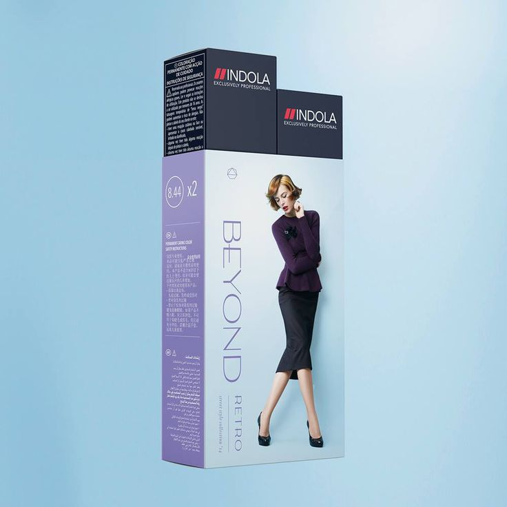 Indola Profession Permanent Caring Color 8.44 Beyond Retro (street style collection 2014) 2x.