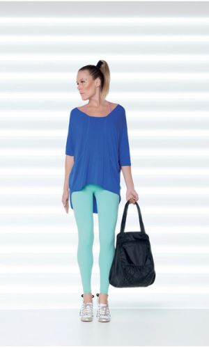 Very flattering mid-calf length leggings in a stunning blue.   Ultra stretch SUPPLEX Lycra® fabric is fast drying and supports and gives great shape. http://divineyou.co.nz/product/marcelle-lisa-leggings/