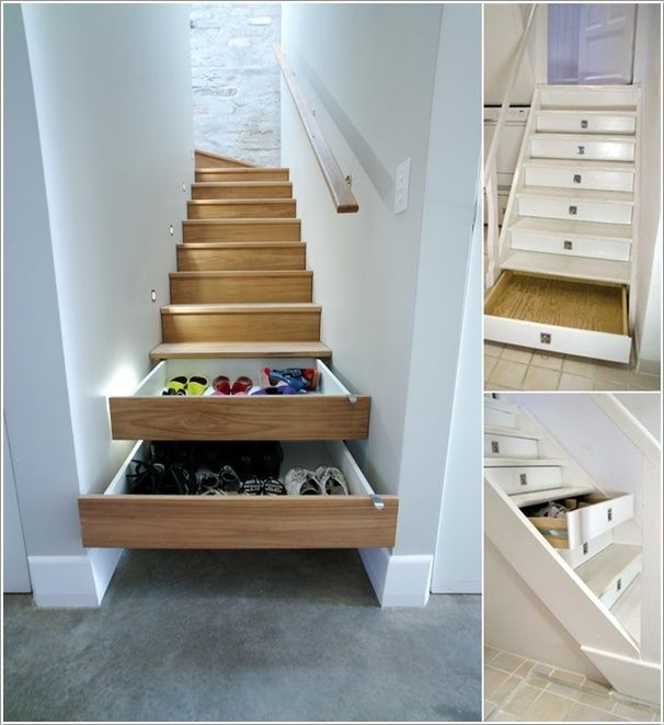 Stair Riser Drawers - #sneaky... Have you got a handyman in the house and a lack of storage...?