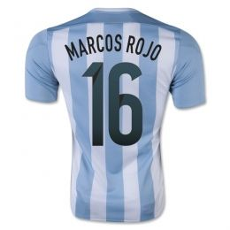 Argentina national team 2015 Home Marcos Rojo #16 Soccer Jersey [A907]