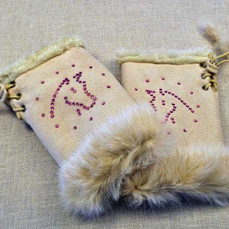 crystallized gloves