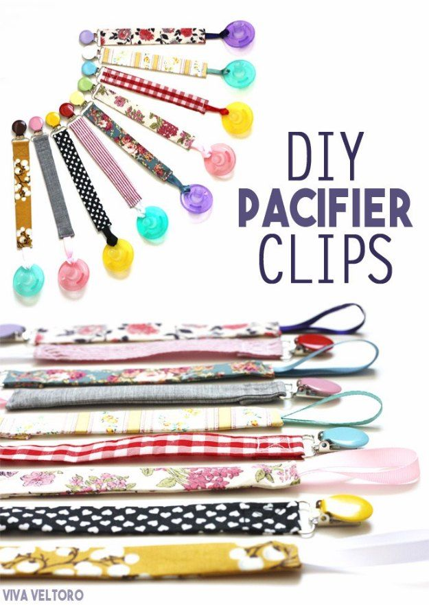 DIY Baby Gifts - DIY Pacifier Clips - Homemade Baby Shower Presents and Creative, Cheap Gift Ideas for Boys and Girls - Unique Gifts for the Mom and Dad to Be - Blankets, Baskets, Burp Cloths and Easy No Sew Projects http://diyjoy.com/diy-baby-shower-gifts