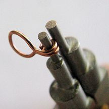 """Cotter Pin Link - 20-gauge round dead soft OR half hard jewelry wire, 1 ½"""" (4cm) per link 1 hook (Discover how to make your own wire-wrapped hook here: Wire Wrapped Hook Tutorial; you will need 3½"""" of 20-gauge round half hard wire to make the hook.) One 20-gauge jump ring, 10 or 12mm OD (outer diameter)"""