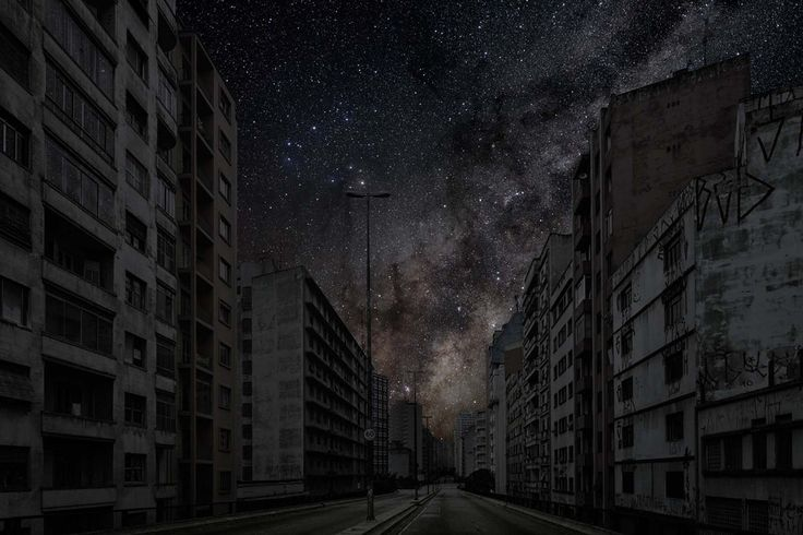 Stunning pictures imagine the starry night skies over cities after a global blackout by Thierry Cohen