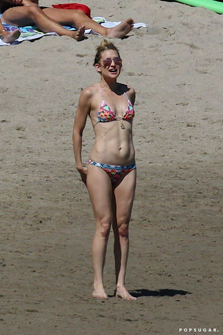 Pin for Later: Kate Hudson Bares Her Bikini Body During a Beach Day With Chris Martin