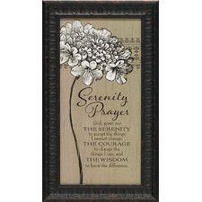 serenity prayer framed textual art