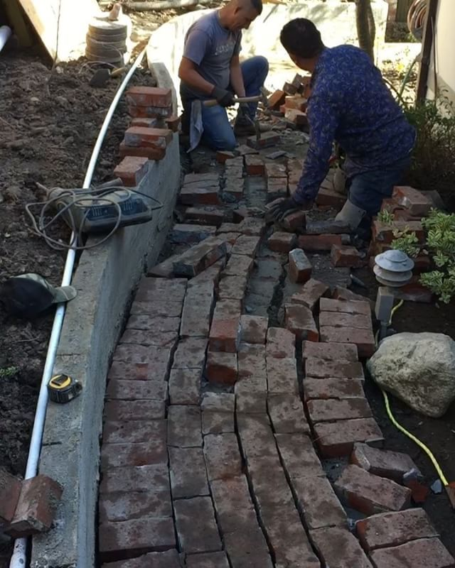 The guys are working hard with great enthusiasm! Having the same vision in every project we do is very important. That's is why we have built a great clientele here in the Monterey Peninsula. #project #carmelbythesea #carmel #montereypeninsula #tilecontractors #tilecontractor #hardscape #hardscapedesign #masonry #pavers #luxuryrealestate #luxuryhomes #customhomebuilder #customhomes #customhomedesign #interiordesign #designer #architect #architecture #tiles #rile #stone #homedecor #homedesign…