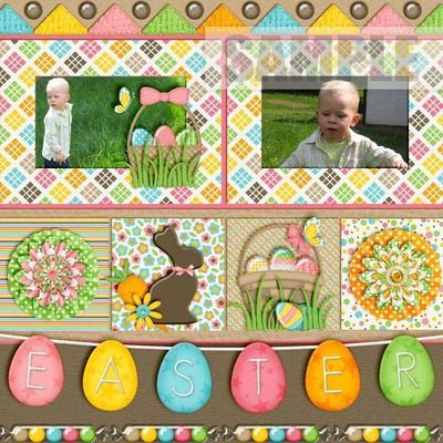 MyMemories.com Easter Fun Combo Pack. Layout by Crazy-4-Monograms. C4m_easterfun_kit