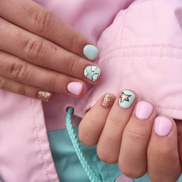 Manicure Ideas For Girls Cute Nail Designs Kids Nail Art Ideas Little Girls Manicure Girls Nail Designs Little Girl Nails Nails For Kids