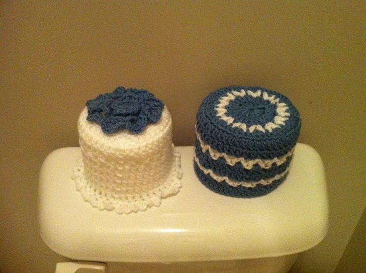 Crochet toilet paper roll covers- pick a color