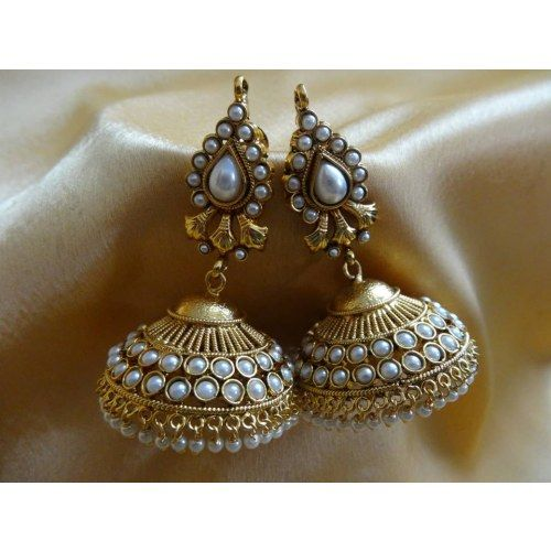 Kemp Jhumki - Online Shopping for Earrings by Dhaanya