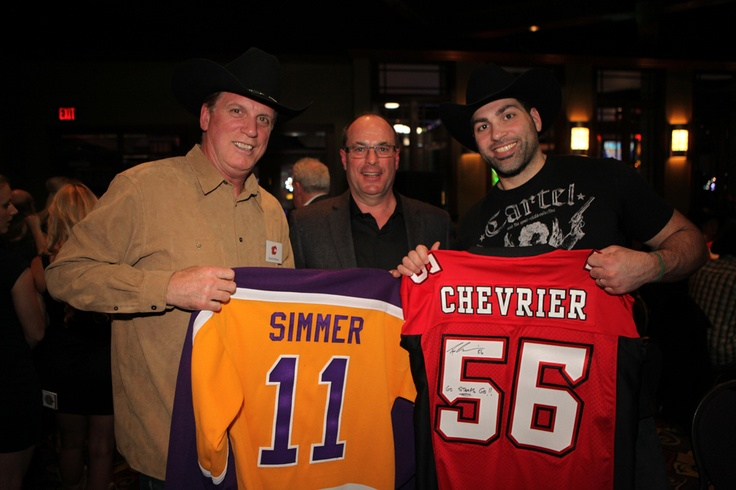A couple of the celebrities in attendance at the 2013 Texas Hold 'Em Tournament - Charlie Simmer & Randy Chevrier!