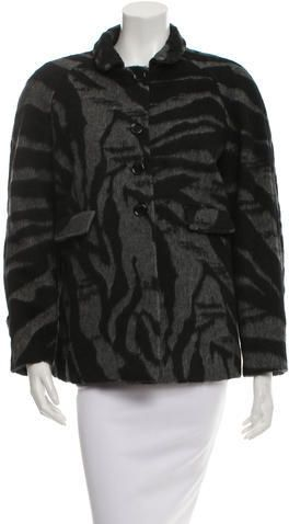 See by Chloé Wool Patterned Coat