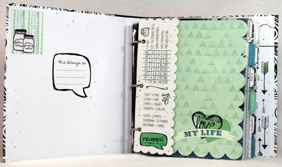 ourmomstouch.etsy.com Recipe Organizer Deluxe - Personalized Blank Book - Binder - Family Album - Family Organizer - Grandma's Recipe Book