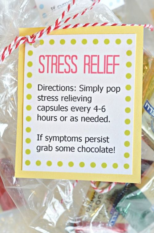 Brighten someone's day with a simple Stress Relief Kit!! Free Printable tag, too!