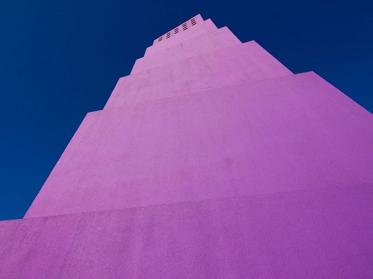 The vibrant Latino Cultural Center in Dallas was designed by Mexican architects Ricardo and Victor Legorreta. The Legorretas are known for their use of brilliant color and light.