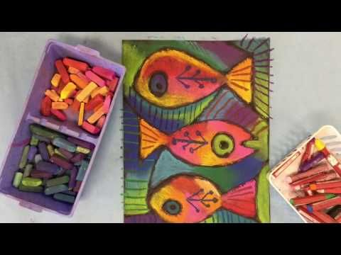Chalked Fish inspired by Sandra Silberzweig! - YouTube