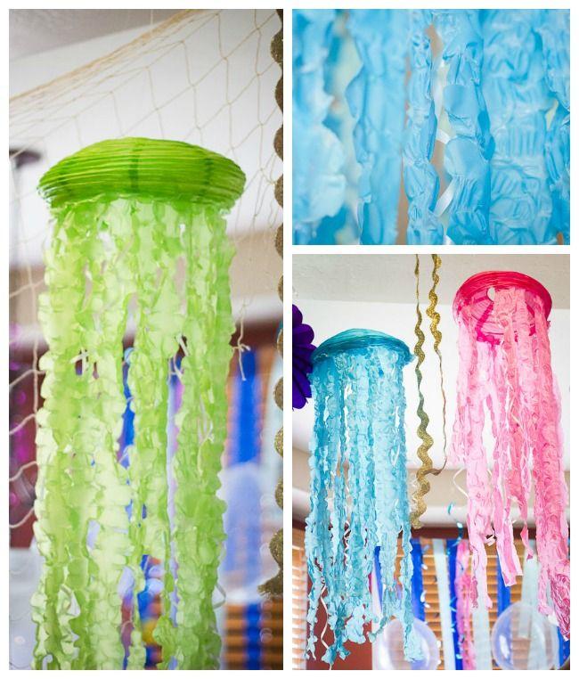 Amazing Under the sea/mermaid party - DIY Lantern jellyfish
