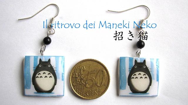 orecchini handmade #Totoro