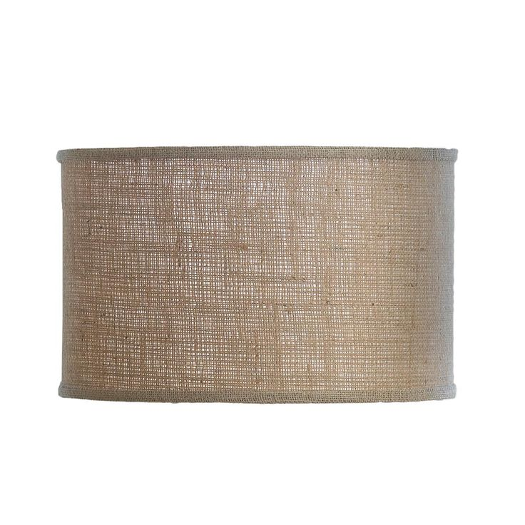 "16"" Burlap Drum Shade"