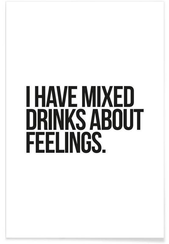 Mixed Drinks as Premium Poster by JUNIQE | JUNIQE