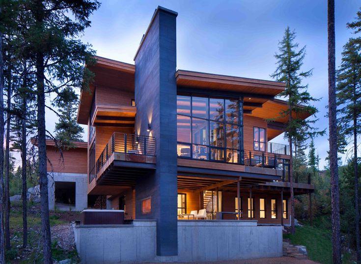 Moderne maison rustique l architecture et agencement - La demeure moderne gb house par mmeb architects ...