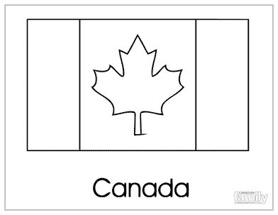 Free Canada Day colouring pages