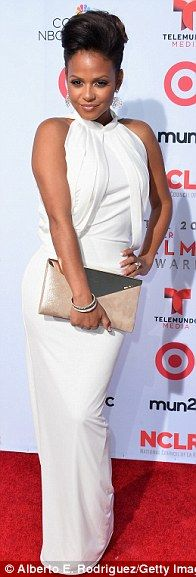 White hot! Also in white were Desperate Housewives' Maiara Walsh, presenter Christina Milian, and Devious Maids' Edy Ganem