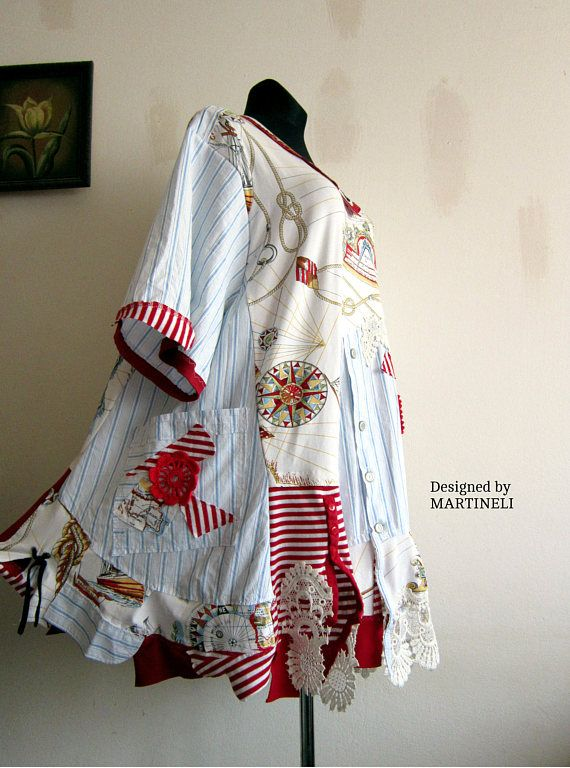 XXXL Trendy Plus Size Top Upcycled Clothing Embroidered Tunic Hippie Tunic Oversize Shirt Dress Patchwork Tunic Boho Plus Size I designed and constructed this plus size upcycled tunic. . This embroidered top can be weared on special occasions,wedding,prom or when you want to feel good and