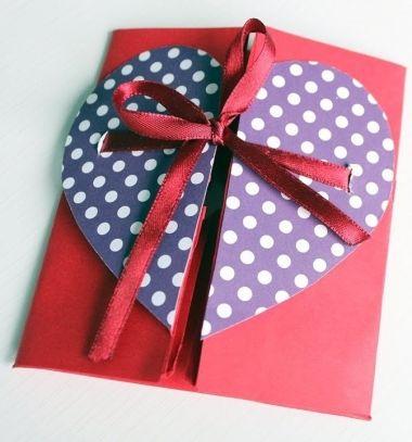DIY envelope paper heart cards - valentine's day gift // Szívecskés boríték - romantikus Valentin napi ajándék // Mindy - craft tutorial collection