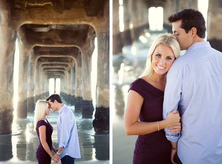 Beautiful beach engagement photo. Photo by Joshua Aull Photography. www.wedsociety.com #wedding #engaged