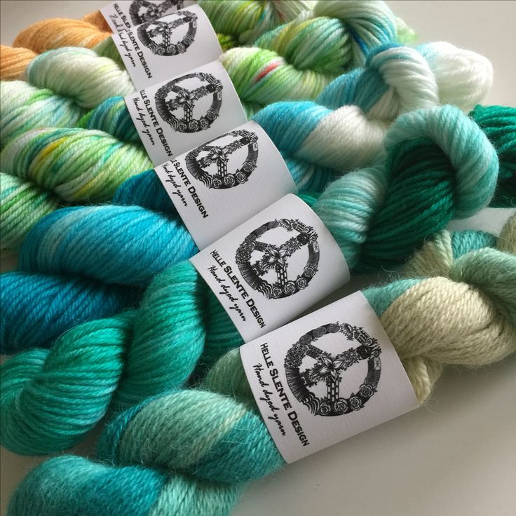 Beautiful hand dyed wool in lovely shades of green & blue | hand dyed yarn