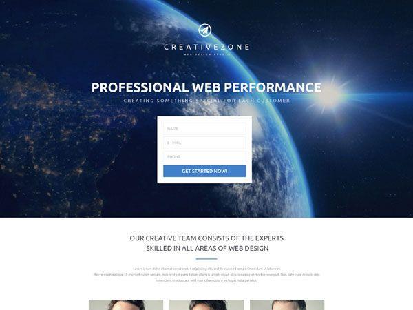 CreativeZone Landing Page