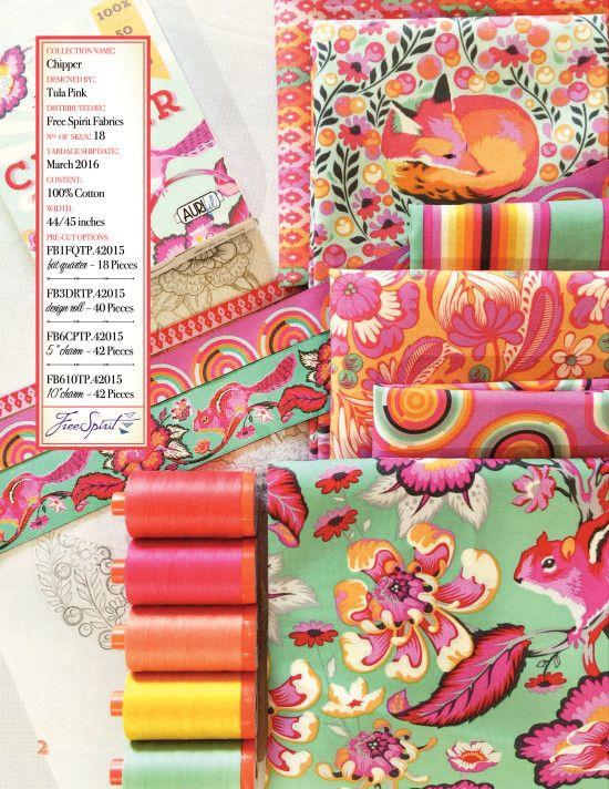 Tula Pink Chipper fabrics