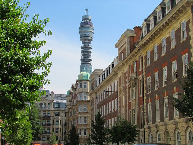 The BT Tower - This tower is a very unique building, it is less famous than some of the other features of London however it is noticeable. The amazing buildings underneath the BT tower are beautiful, they show great architecture and they bring culture and history to London.
