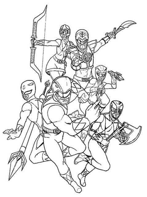 power rangers coloring pages | Power Rangers coloring pages online. Download free Power Rangers ...