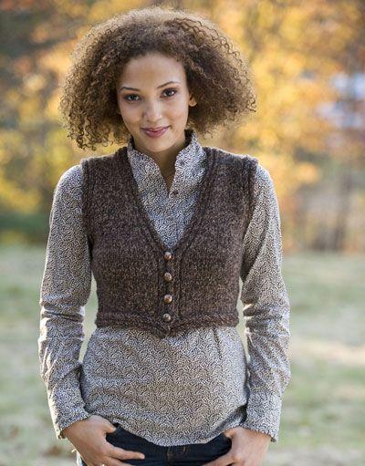 13 Best Easy Vests To Knit Images On Pinterest Knit Vest Knitting