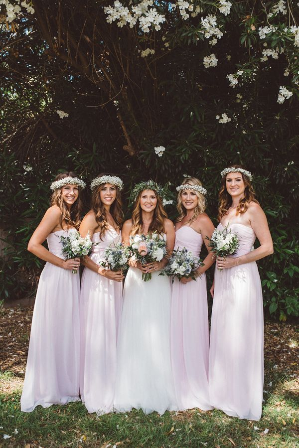 bride and bridesmaids - photo by J&G Photography http://ruffledblog.com/bohemian-arizona-brunch-wedding