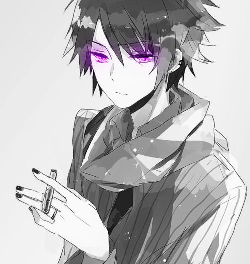 #Purple eyes #anime #guy #smoking | The Oddity's of Earth ...